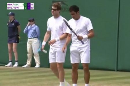 Gonzalo Escobar clasifica a octavos en dobles masculino en Wimbledon