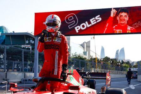 Charles Leclerc logra la 'pole' en Azerbaiyán (Video)