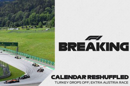 El Gran Premio de Turquía es cancelado y Austria acogerá dos carreras