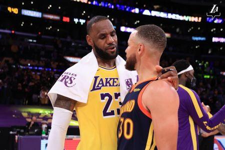 LeBron gana el duelo a Curry y los Lakers avanzan a playoffs de la NBA
