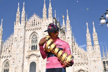 Egan Bernal conquista el Giro de Italia