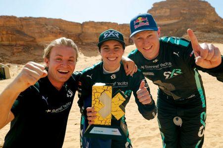 El equipo de Nico Rosberg gana la primera manga del Extreme E en Arabia Saudita