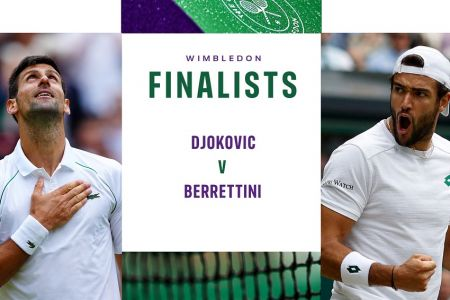 Djokovic busca su 20º Grand Slam y Berrettini el primero en la final de Wimbledon